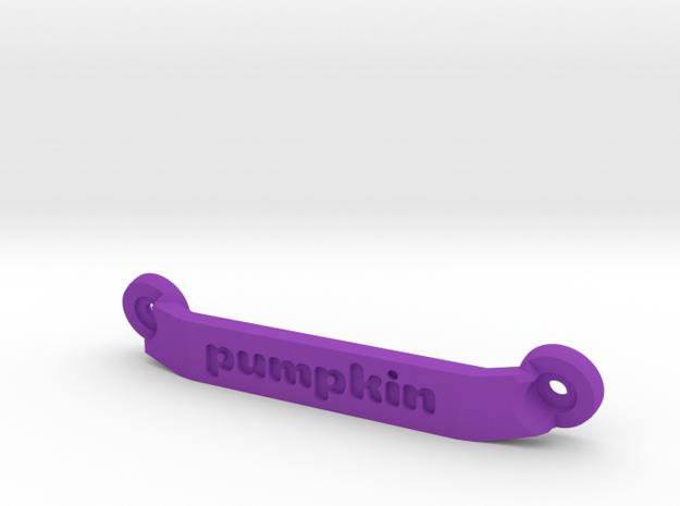 CW01 Chassis Brace - Rear - Pumpkin in Purple Processed Versatile Plastic