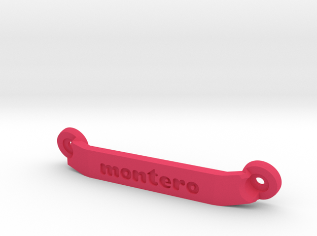 CW01 Chassis Brace - Rear - Montero in Pink Processed Versatile Plastic