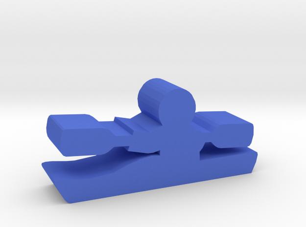 Game Piece, Kayak in Blue Processed Versatile Plastic
