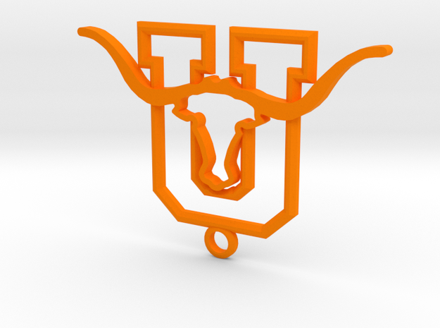 United ISD Longhorns Laredo, Texas in Orange Processed Versatile Plastic