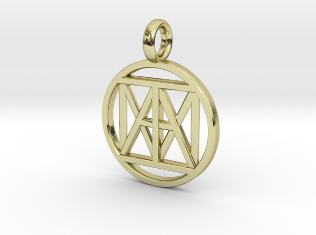 """United """"I AM"""" 30mmx3mm in 18k Gold Plated Brass"""