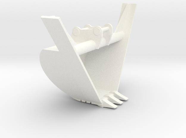 349 Standard Trap Bucket in White Processed Versatile Plastic