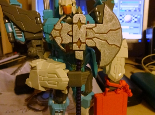 Galvatron's Axe in White Strong & Flexible Polished