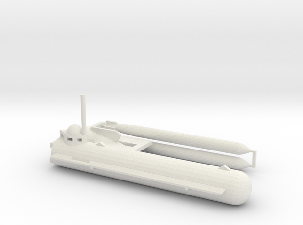1/144 Molch German mini submarine in White Strong & Flexible