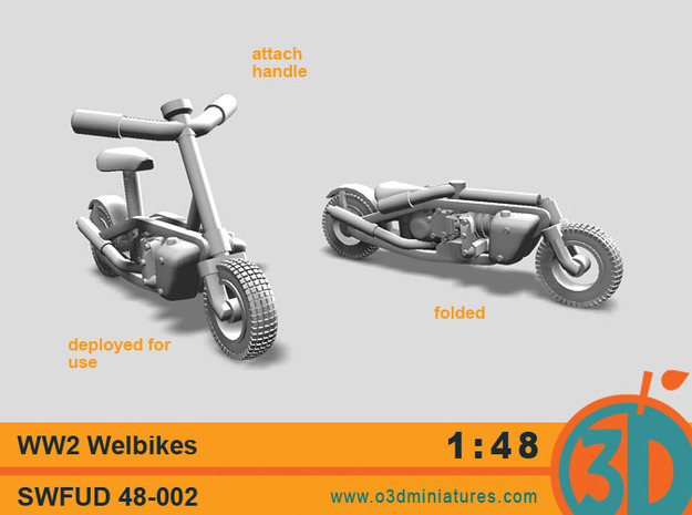 WW2 Welbikes 1/48 scale SWFUD-48-002 in Smooth Fine Detail Plastic