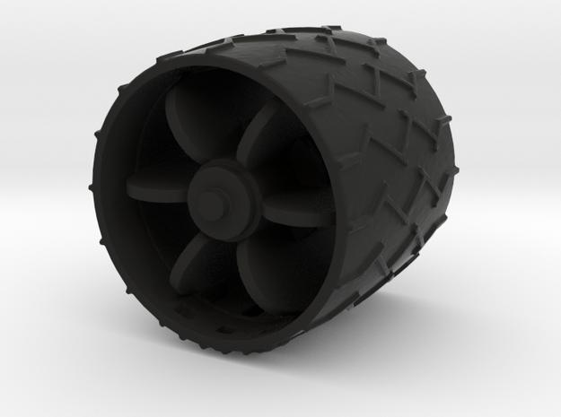 1:24 Mars Rover Wheel in Black Strong & Flexible