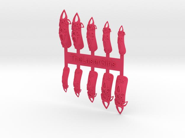 Castle Nails (Size 2) 3d printed