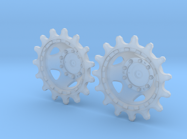 Merkava 2d Batash Sprocket halves in Smooth Fine Detail Plastic