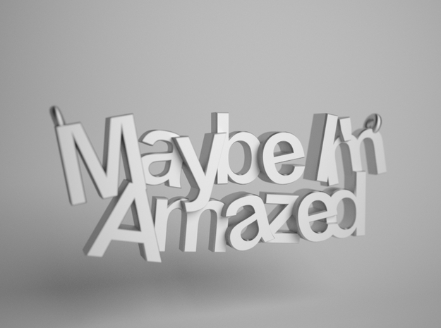 Maybe I'm Amazed Pendant Small in Polished Bronzed Silver Steel