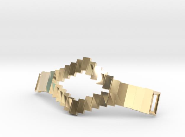 Tetris Bracelet in 14k Gold Plated Brass
