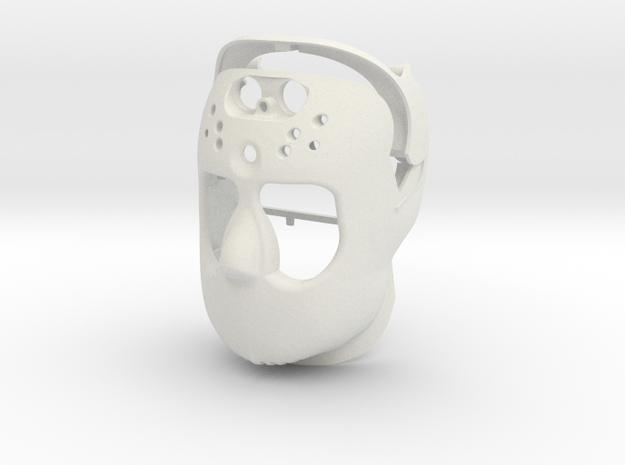 Robot Face in White Strong & Flexible