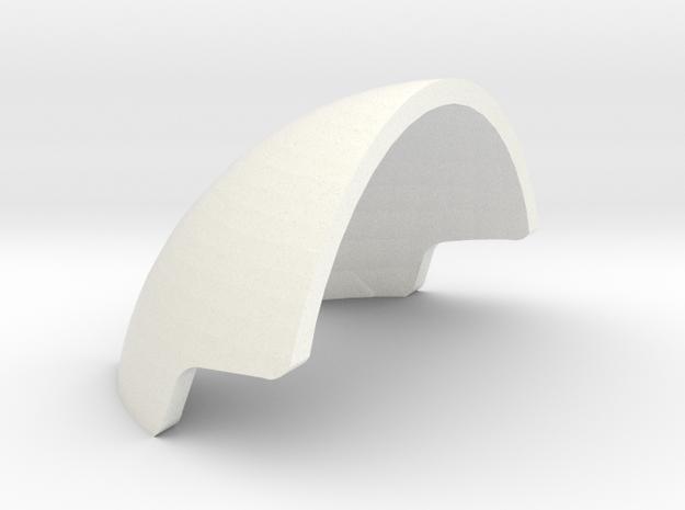 1:6 scale Slaap Helmet Armor in White Processed Versatile Plastic