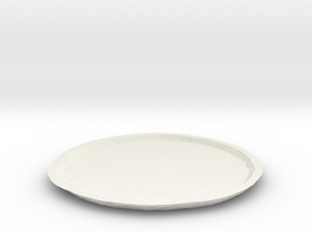 Vesta Asteroid Planter Dish (large) in White Natural Versatile Plastic