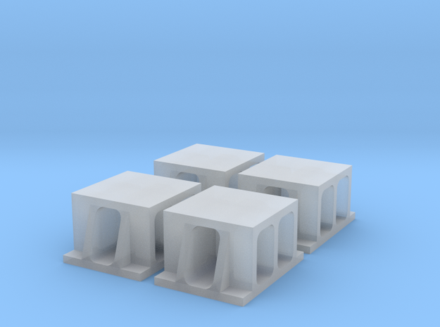 Proto N Scale (1:160) Boller & Hodge Bridge Shoe in Smooth Fine Detail Plastic
