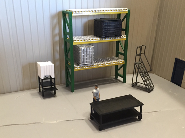 Pallet Rack 3 High in Smooth Fine Detail Plastic