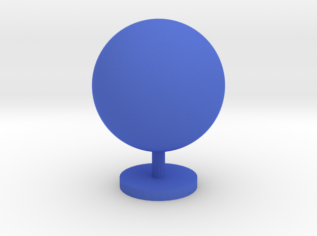 Game Piece, Planet in Blue Processed Versatile Plastic