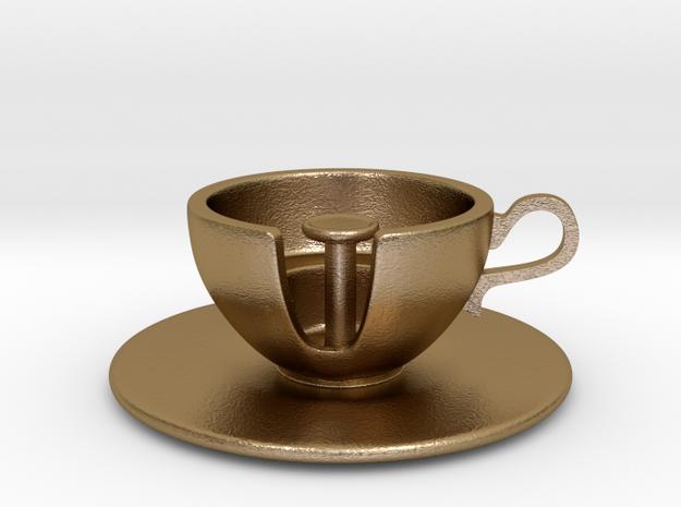Cuppa Kooky Pendant in Polished Gold Steel