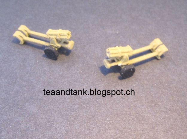 1/144 Nebelwerfer rocket launcher (set of three) in White Strong & Flexible