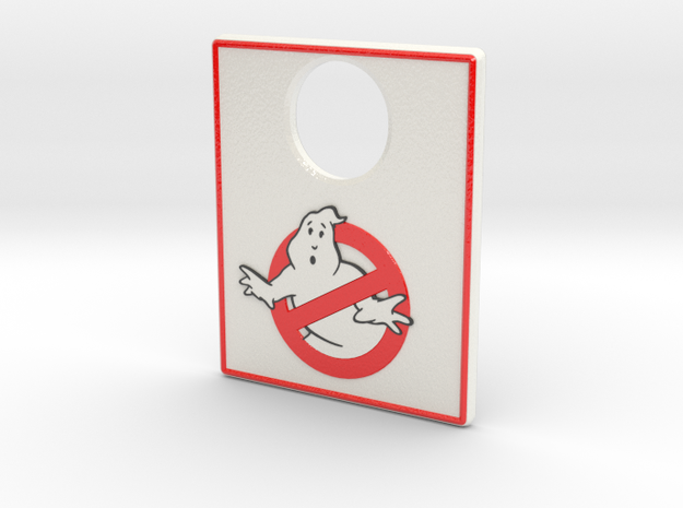 Pinball Plunger Plate - Ghost Bustin 3 in Glossy Full Color Sandstone