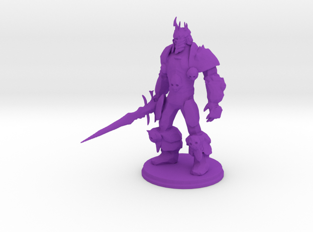 Arthas the Lich King from World of Warcraft in Purple Strong & Flexible Polished