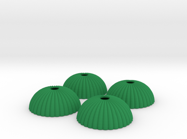 1/144 12mm scale army parachute para Fallschirm in Green Processed Versatile Plastic