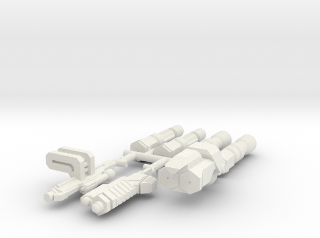 6mm Weapon Sprue A in White Natural Versatile Plastic