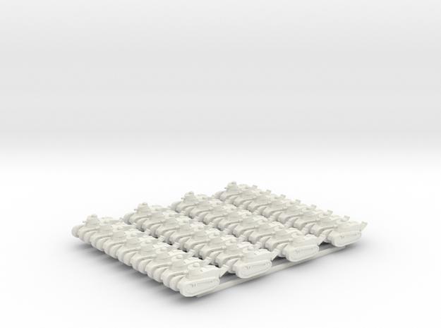 FT-17 Tanks x32 in White Natural Versatile Plastic