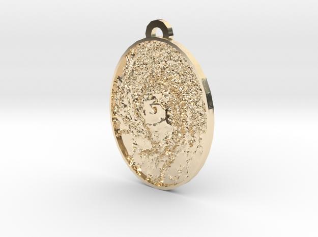 Hurricane Eye Earring in 14k Gold Plated Brass