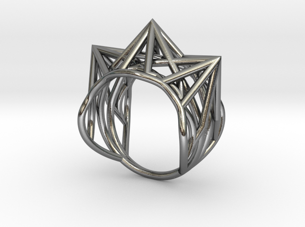 Ring size 6 US (16.5mm diameter) in Polished Silver