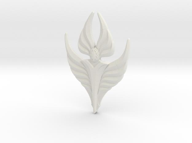Fire Angel Pendant 02 - 60mm in White Natural Versatile Plastic