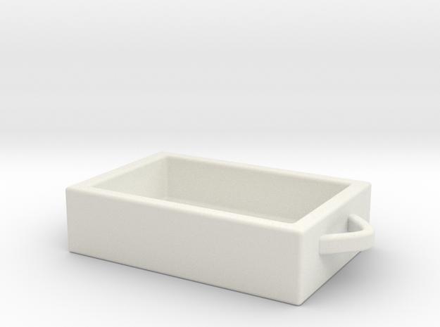 Basket in White Natural Versatile Plastic