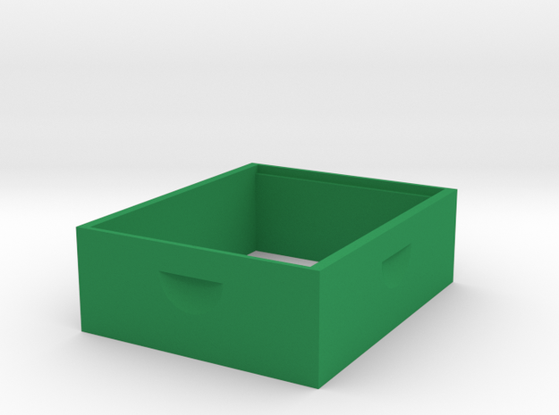 Medium Box 1/8 scale in Green Strong & Flexible Polished