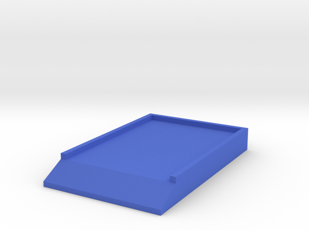 Bottom Board 1/8 scale in Blue Strong & Flexible Polished