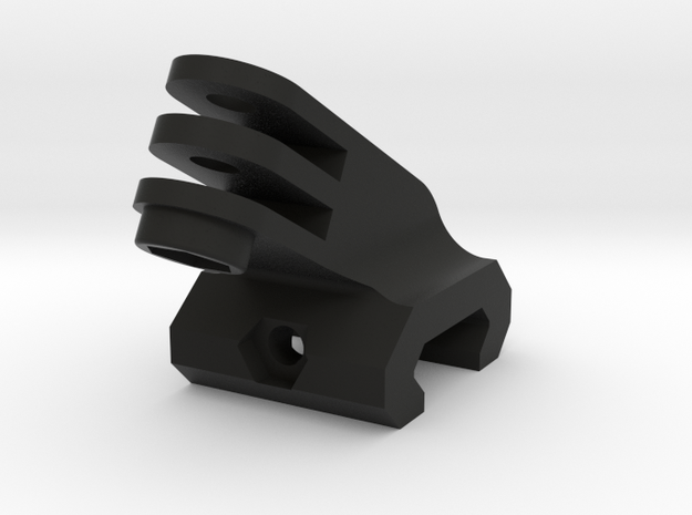 Picatinny to GoPro adapter at 62 degrees for Tavor in Black Natural Versatile Plastic