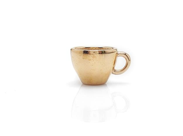 Cappuccino Mug Pendant / Charm (Large)