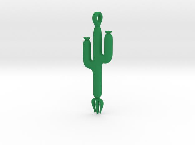 Cactus Pendant in Green Processed Versatile Plastic