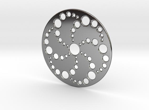 Crop Circle Spiral Pendant