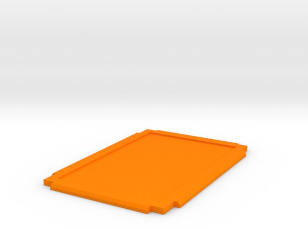 Damage Deck Lid in Orange Strong & Flexible Polished