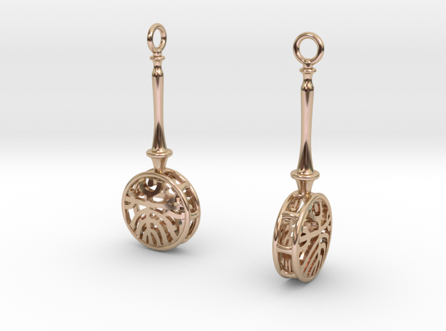 FitzLogo Banjo Earrings in 14k Rose Gold Plated Brass