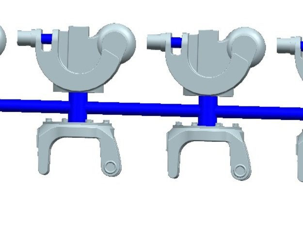 1/72 scale Mh-60  Rotor hinges