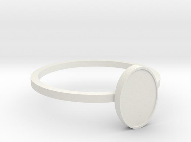 Anel Semplic in White Natural Versatile Plastic