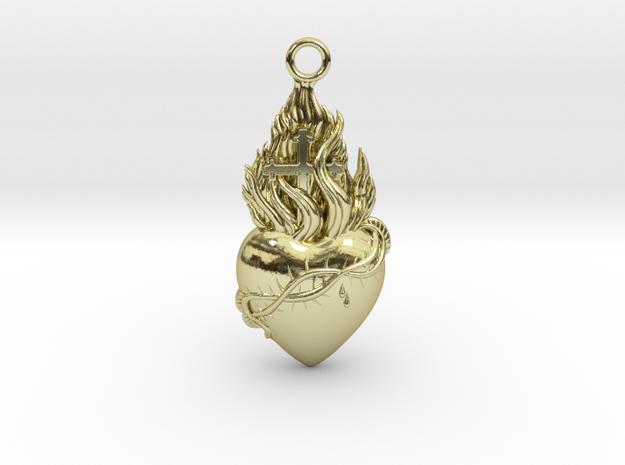 PITTI Medium Pendant in 18k Gold Plated Brass