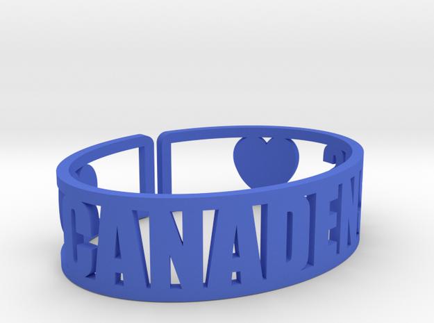Canadensis Cuff in Blue Processed Versatile Plastic
