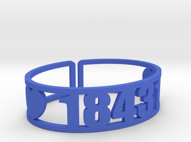 Indian Head Zip Cuff in Blue Processed Versatile Plastic