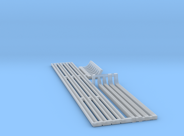 Gutters & Downspouts - N 160:1 Scale in Smooth Fine Detail Plastic