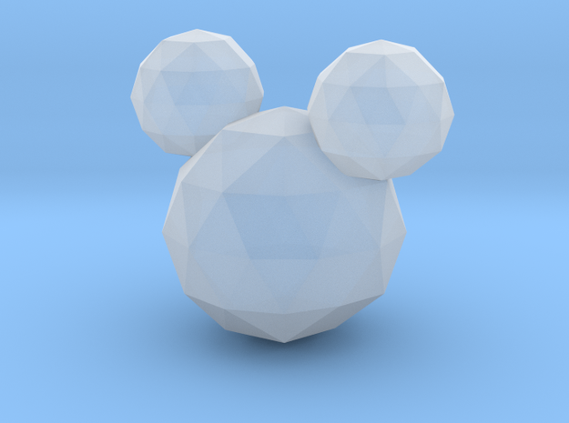 Crystal Mickey in Smooth Fine Detail Plastic