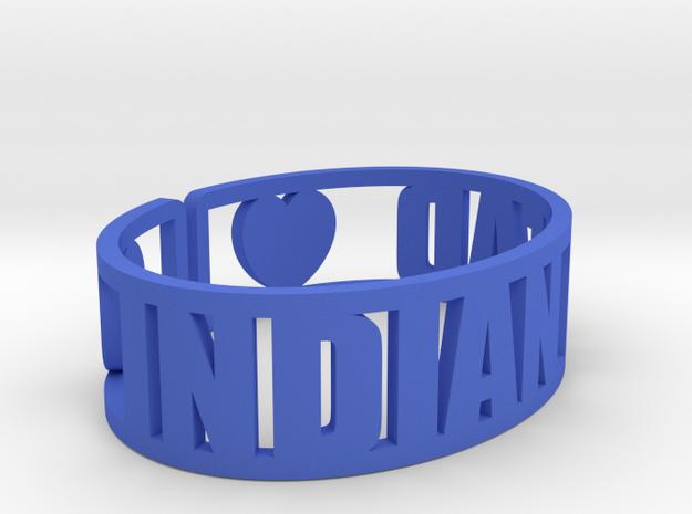 Indian Head Cuff in Blue Processed Versatile Plastic