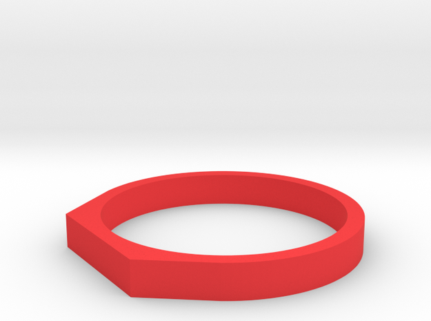 Anello Troco in Red Strong & Flexible Polished