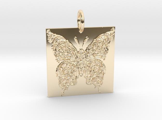 Flutter in 14k Gold Plated Brass