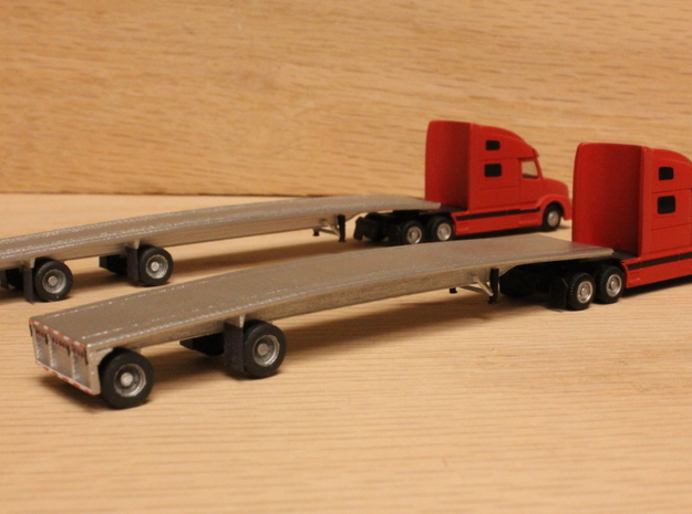 1:160 N Scale MAC 53' Flatbed Trailer in Smooth Fine Detail Plastic